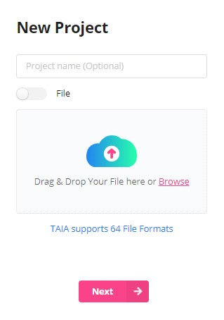 First step in the Taia app
