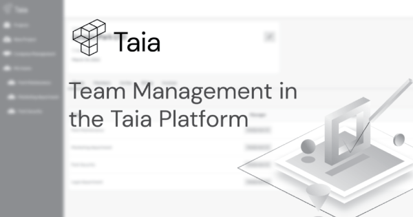 Taia app update: Team management feature